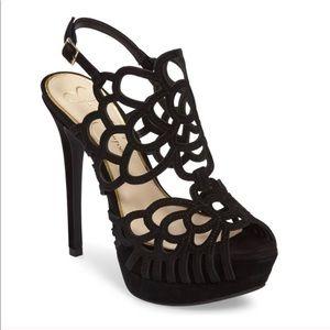 Never Worn! Black Suede Heels